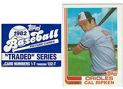 Amazoncom 1982 Topps Traded Baseball Series Complete 132 Card Set