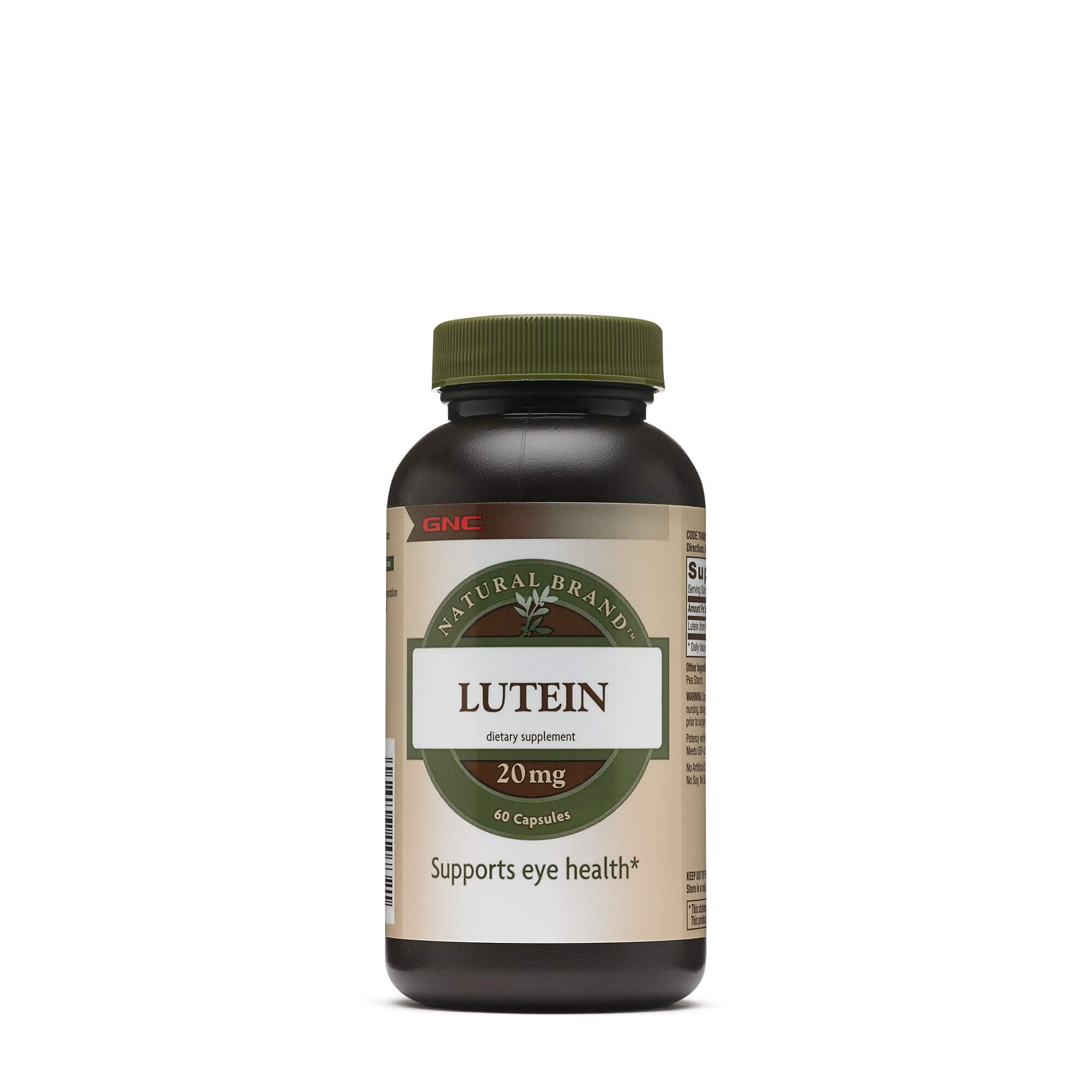 Gnc Natural Brand Lutein 20 Mg Capsules, 60 Count by GNC