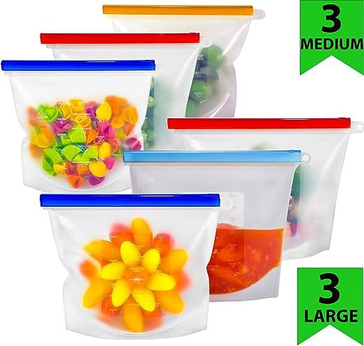 Amazon.com: Bolsas de silicona para alimentos.: Kitchen & Dining
