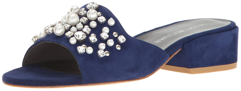 Stuart Weitzman Women's Decorslide Slide Sandal B01M4OM6YI 8 B(M) US|Sapphire