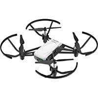 Tello Intelligent Quadcopter Drone with 5MP 720p HD Camera Smartphone Control (White & Black)