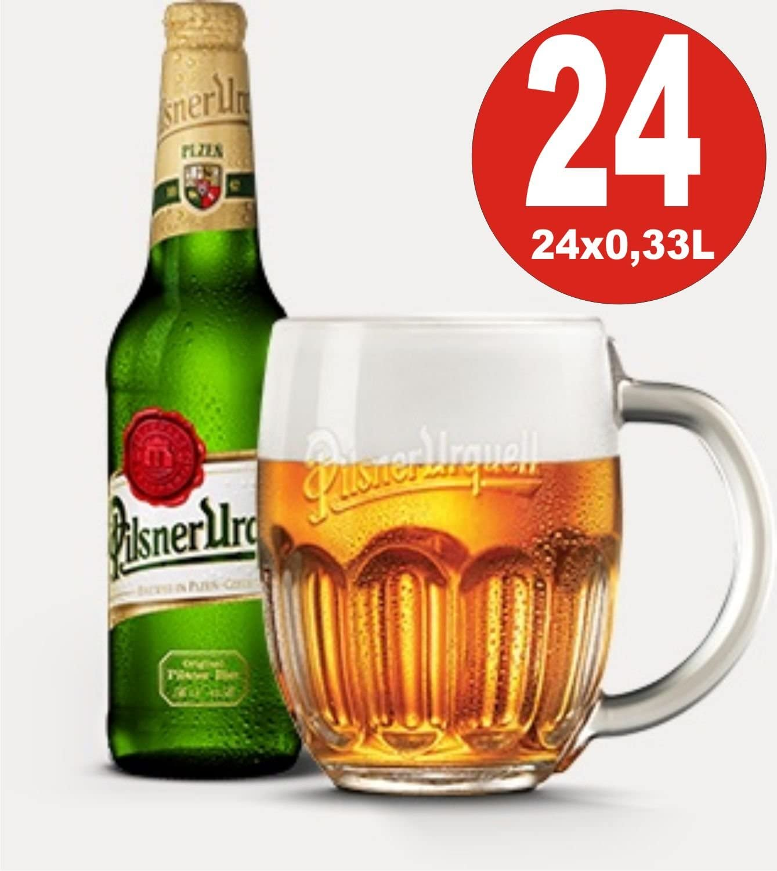 24 x Pilsner Urquell Cerveza 0.33 Caja original 4.4% Vol. Alc.