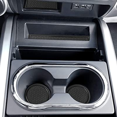 Auovo Anti Dust Mats for Nissan Titan Crew Cab with Floor Console Front Bucket Seat 2020 2020 2020 Custom Fit Door Liners Cup Holder Center Console Mats Interior Accessories(14pcs/Set) (Black): Automotive