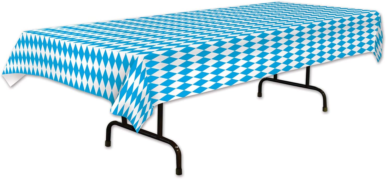 x 108in Pkg//12 Oktoberfest Tablecover 54in Party Decoration 1//pkg