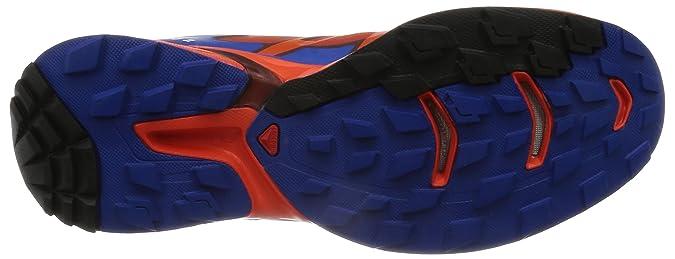 Salomon L39061700, Zapatillas de Trail Running para Hombre, Naranja (Lava Orange/Tomato Red/Blue Yonder), 47 1/3 EU