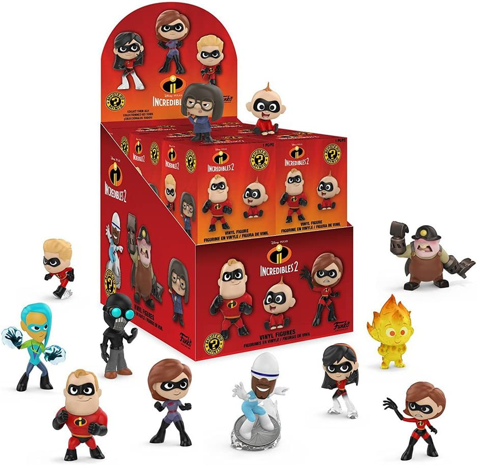 Amazon Com Funko Mystery Minis Disney Pixar The Incredibles 2 Movie Characters Mini Toy Action Figure 2 Pack Bundle Toys Games
