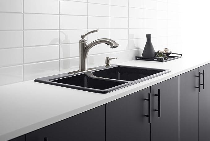 Kohler K R16399 Sd Vs Elliston Kitchen Sink Faucet Vibrant Stainless Home Improvement Amazon Com
