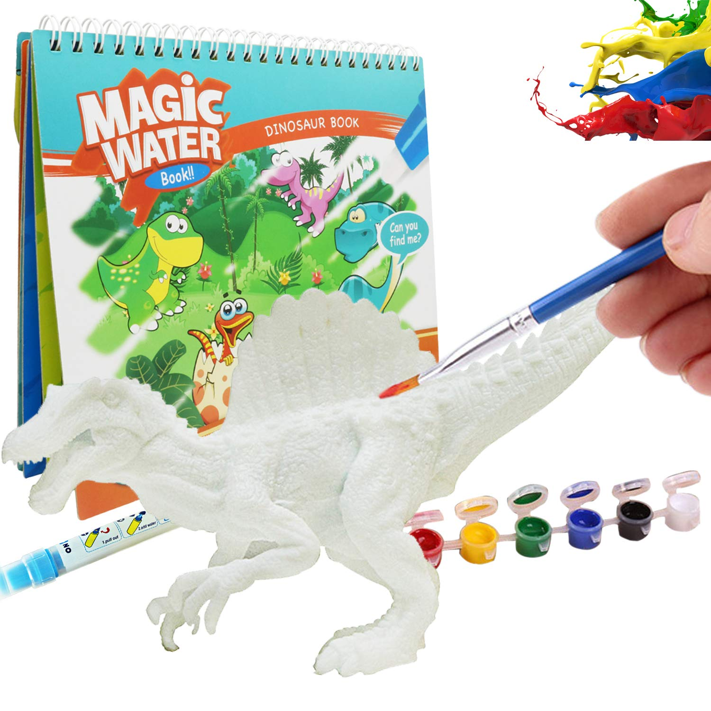 Jurassic paradise DIY Coloring Painting Animal Dinosaur Model Drawing Graffiti Tyrannosaurus Rex Water Painting for Kids Toys