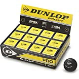 DUNLOP SQUASH BALL DOUBLE DOT9PACK OF 12)