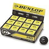 Dunlop Pelota de Squash REVELATION PRO (Doble punto amarillo) Caja 12