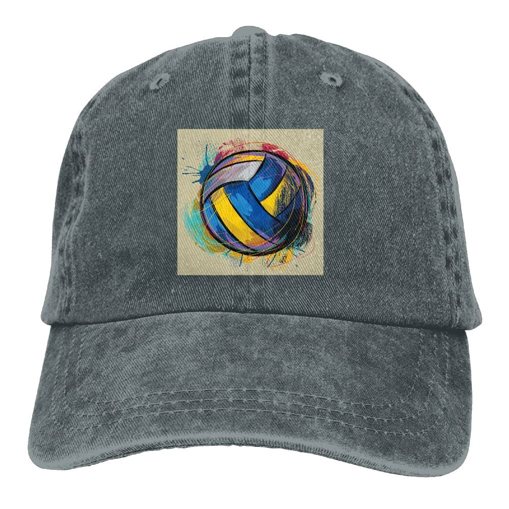 Trableade Special colorful Volleyball Pattern Unisex Sport Adjustable Structured Baseball Cowboy Hat