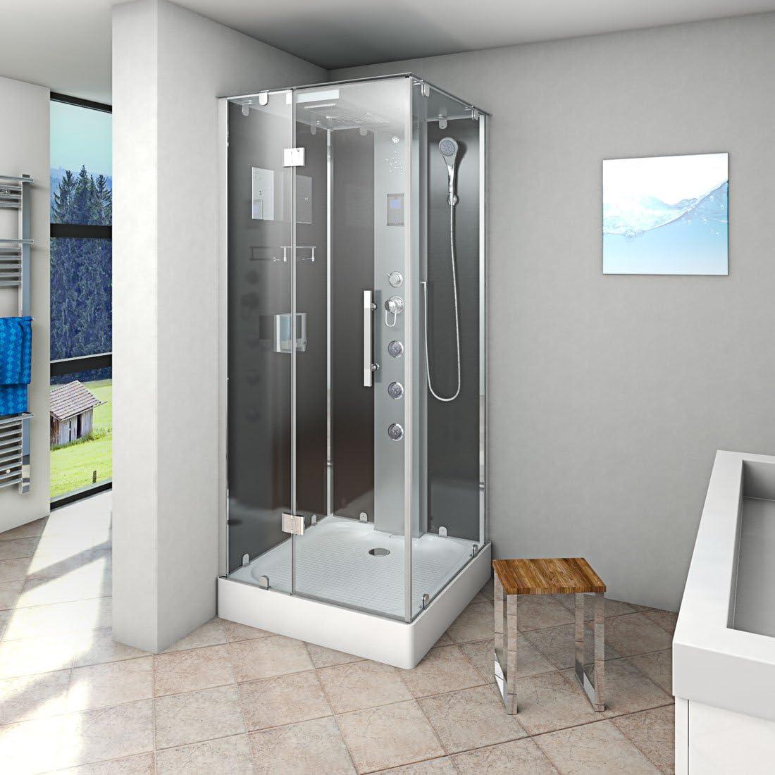 Acqua Vapore dtp6038 – 2302l cabina de ducha de vapor (Templo ducha 100 x 100, Negro 3000.00 wattsW, 230.00 voltsV: Amazon.es: Bricolaje y herramientas