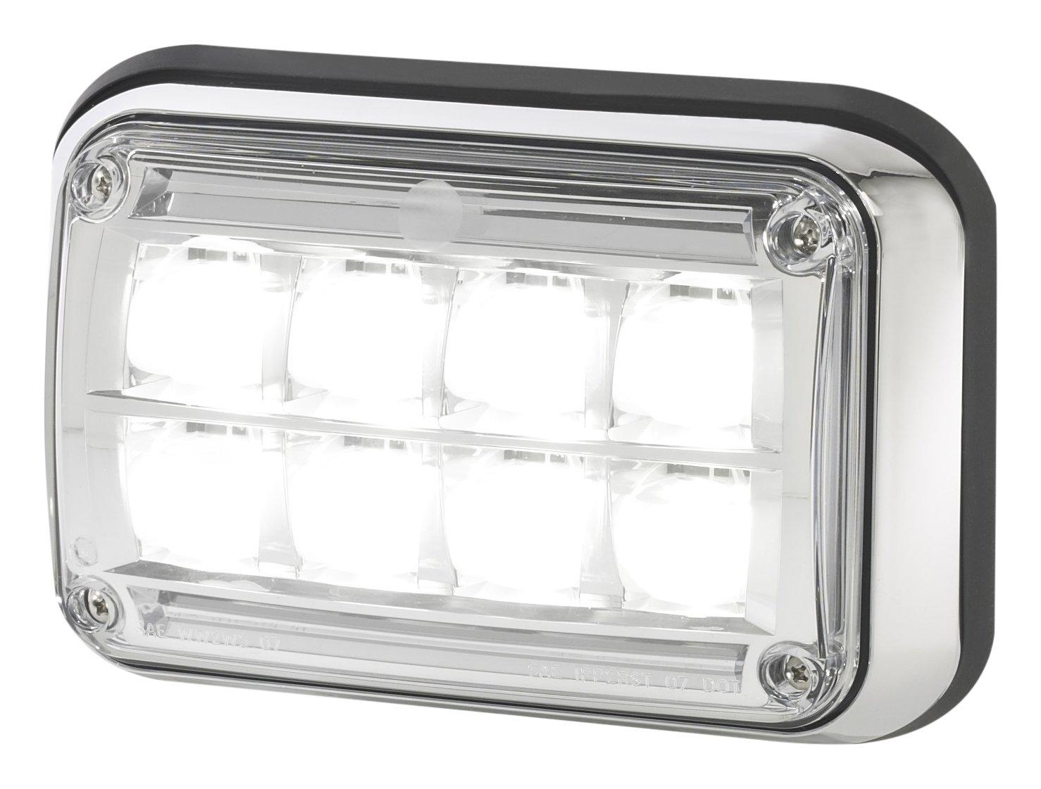 Federal Signal 64LEDSCENE 6 x 4 LED Scene Light Chrome