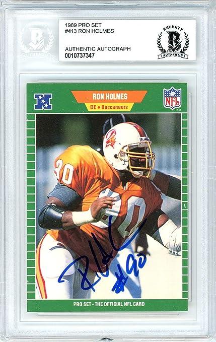 half off edb95 00eb8 Ron Holmes Autographed 1989 Pro Set Card Autographed #413 ...