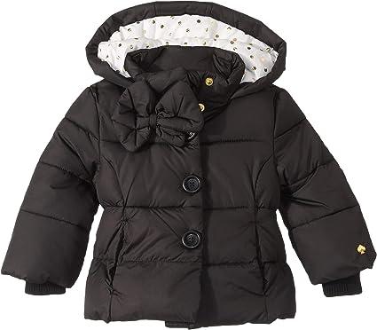 fc2ef581cf3c Amazon.com  Kate Spade New York Kids Womens Bow Puffer Coat (Infant ...