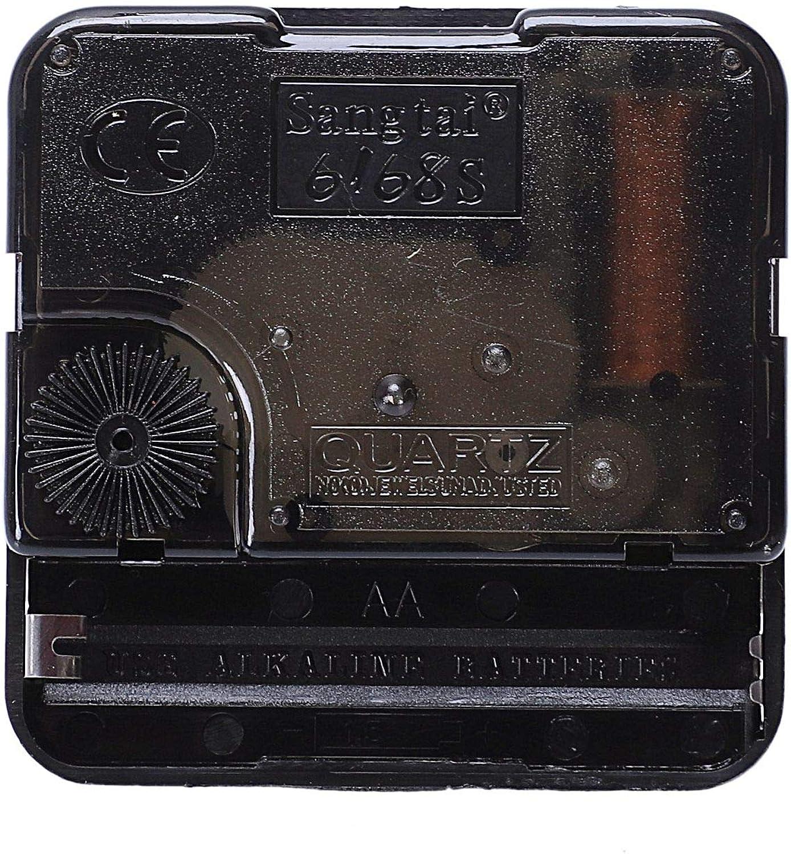 Gaetooely Clock Meccanismo Kit Diy Meccanismo per Orologio da Parete Parti Orologio Al Quarzo Orologio Al Quarzo con Movimento Al Quarzo a Ore E Minuti Decorazione Domestica