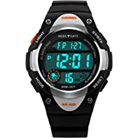 LED Digital Sport Watch, 5 ATM Waterproof, for Kids 10+ yrs Old