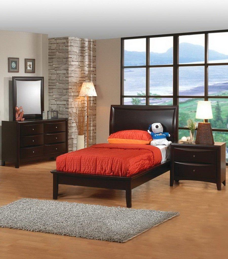 Amazon.com: 5pc Twin Size Bedroom Set - Phoenix Collection ...