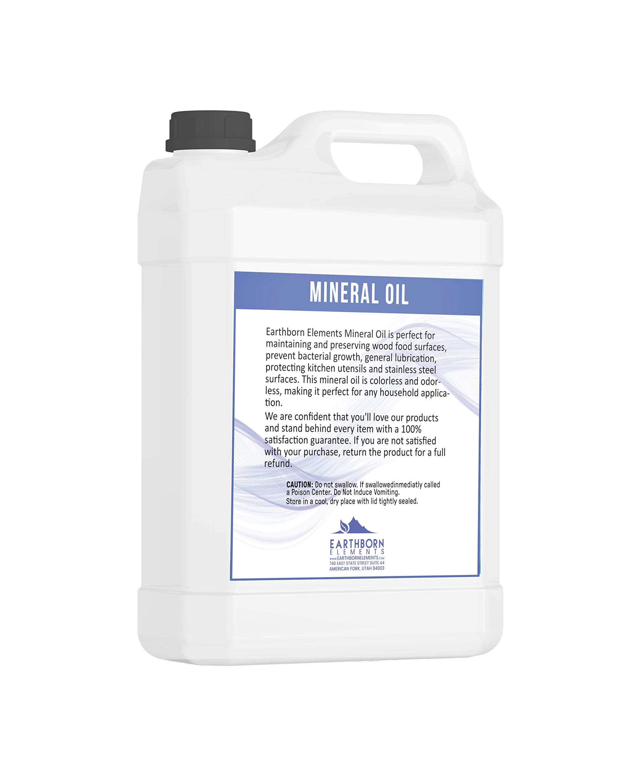 Mineral Oil (1 Gallon) by Earthborn Elements, Food & USP Grade, For Cutting Boards, Butcher Blocks, Counter Tops, Wooden Utensils by Earthborn Elements (Image #2)
