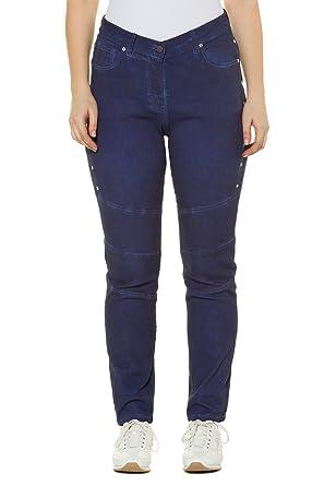 Pantalons Femme Grandes Tailles Popken Ulla Printemps Denim IOqZ0qwH