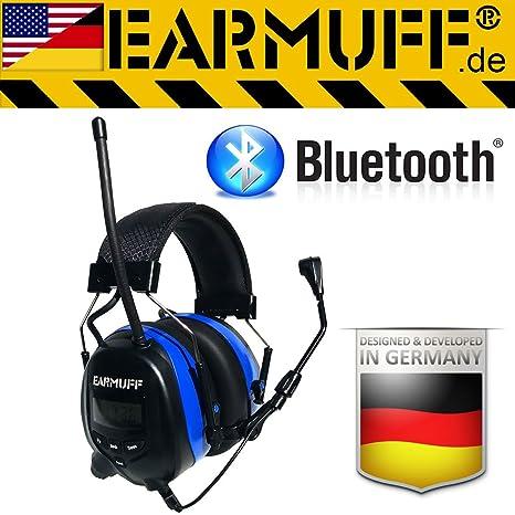 Earmuff - Cuffie Bluetooth per la protezione dell udito con radio e  connettore per smartphone 3e4c7470bb68
