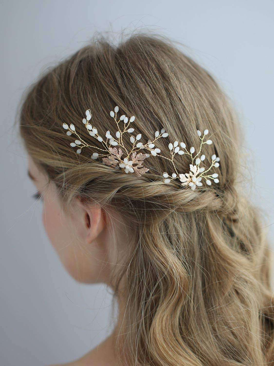 Wedding pink white feather crystals silver color hair comb wedding hairstyle white Accessories Headpiece Bridesmaid evening hair pin