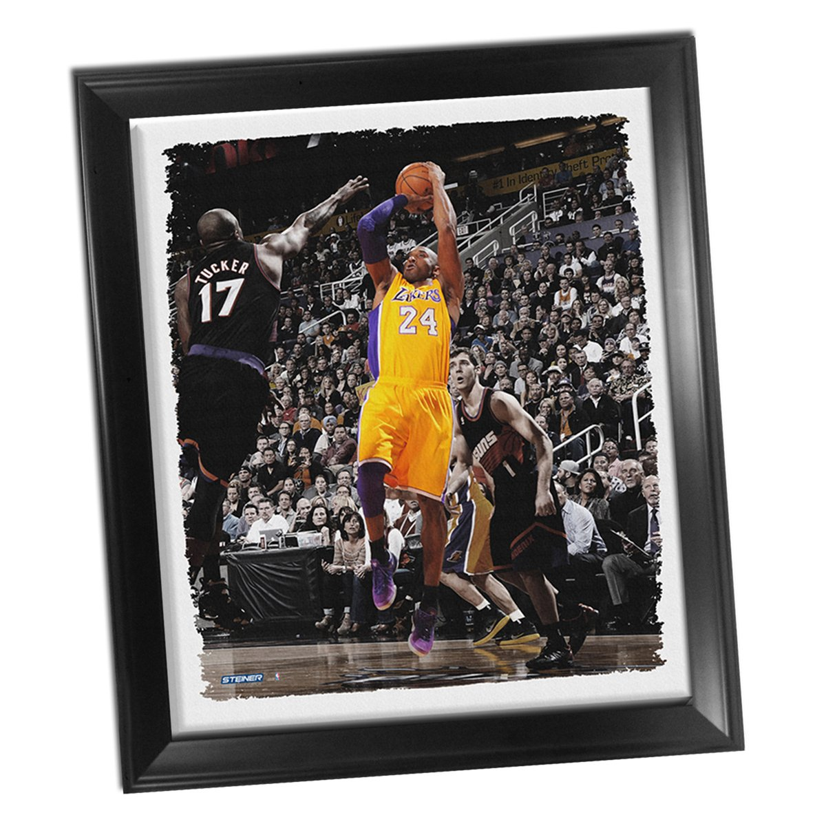 240eee97bc68 Amazon.com  Kobe Bryant Fade-Away Jump Shot Framed Stretched 32x40 Canvas   Sports Collectibles