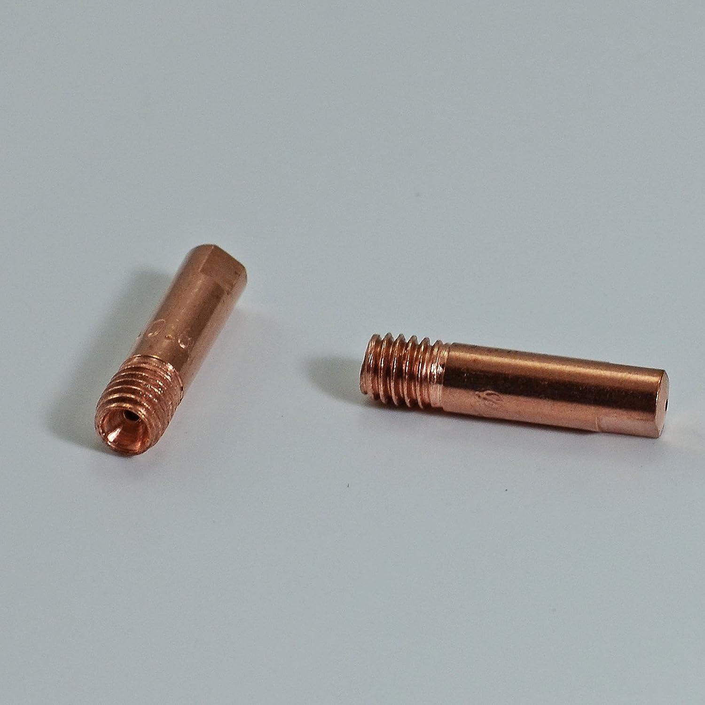 MIG /Φ0,8 M6x25mm 140,0059 50pcs 15AK MB15 tube contacte de la torche de soudage MAG