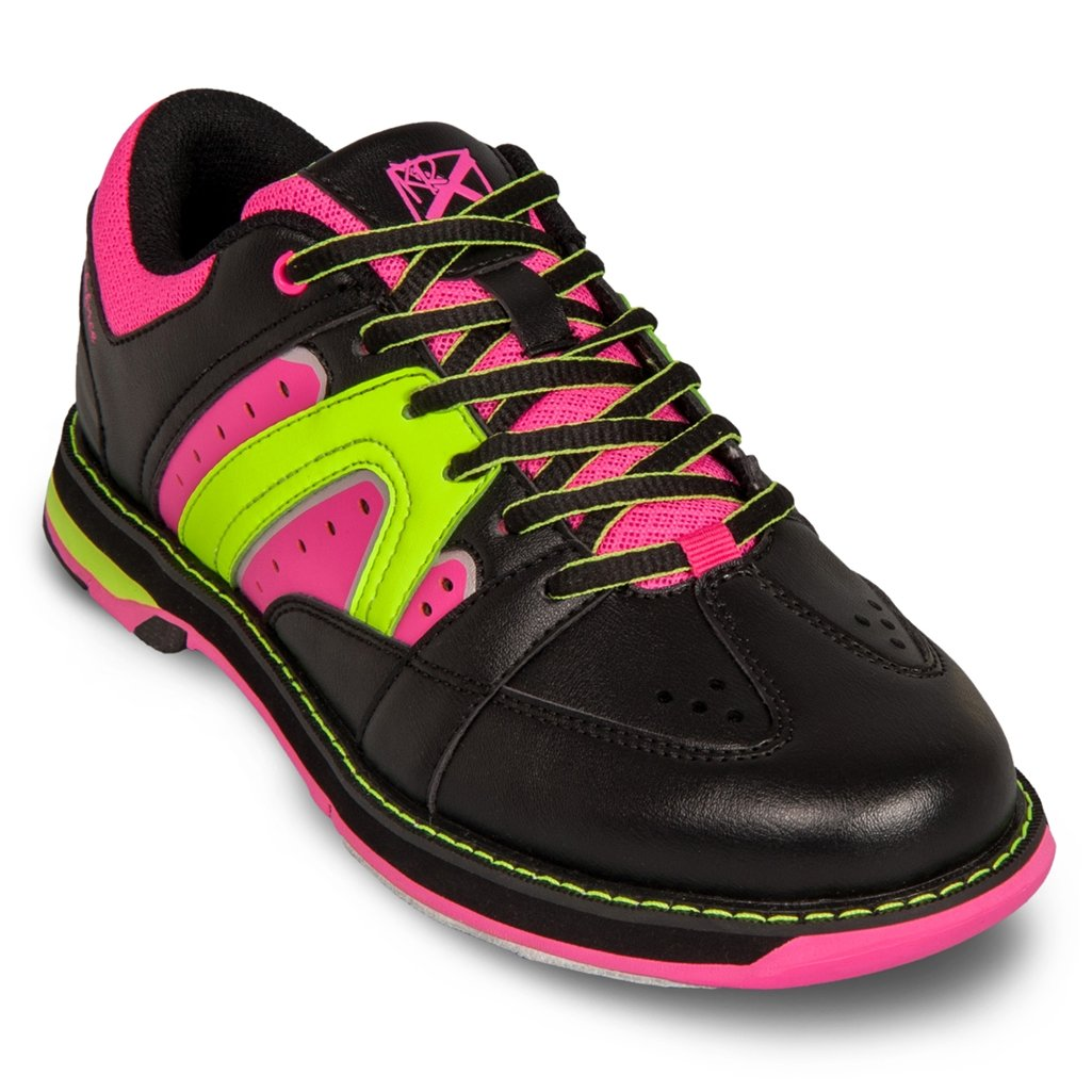 KR Strikeforce Women's Quest Bowling Shoes, Black/Pink/Yellow, 8.5
