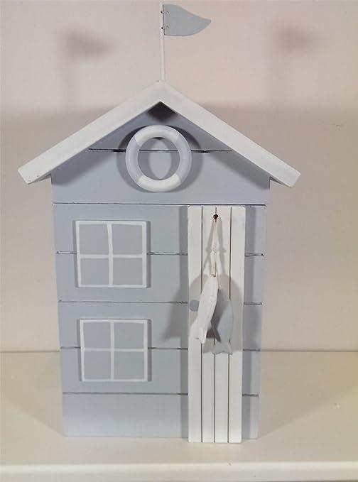 Diseño de casetas de playa de madera pintada caja de almacenaje. Para un diseño náutico