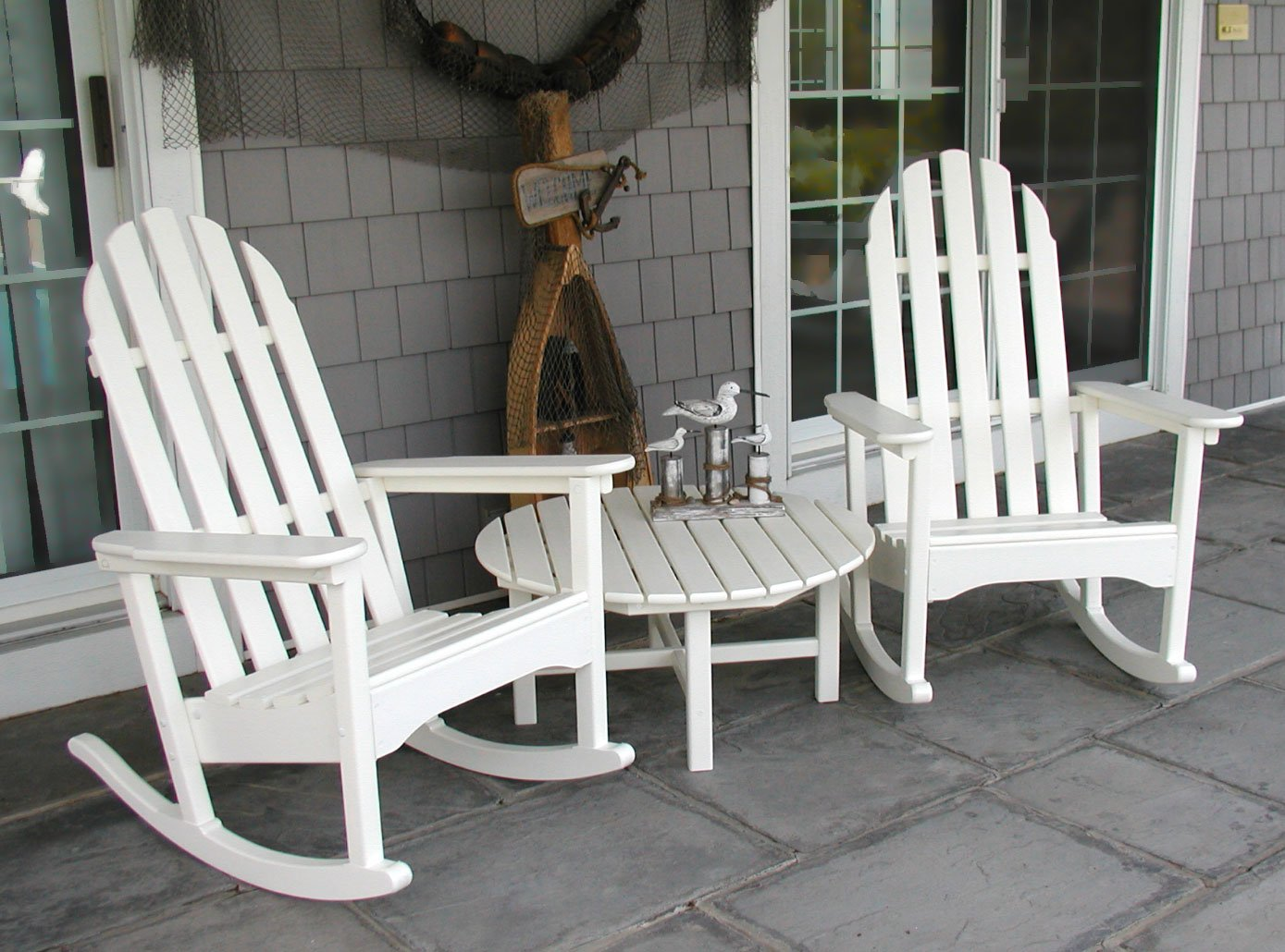 Amazon.com : POLYWOOD ADRC 1WH Classic Adirondack Rocker, White : Patio Rocking  Chairs : Garden U0026 Outdoor