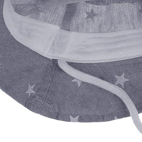 d1f1b5e395e9 Chapeau de Seau Bébé en Coton Anti-UV Bonnet de Soleil Plage Vacances  Voyage Pêche Enfants Protection Solaire Motif Étoile Casquette Visière  Capeline Sun ...