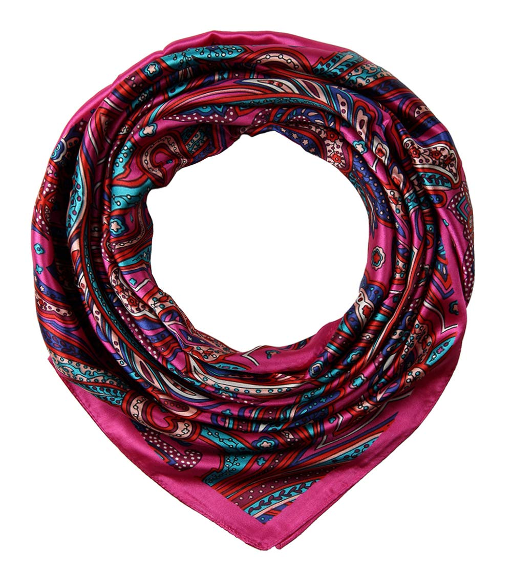 f78cb11aa Large Square Satin Silk Like Lightweight Scarfs Hair Sleeping Wraps for  Women product image