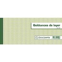 Exacompta 42E Quittances de Loyer 50 Feuillets Format Horizontal 10,1 x 16,5 cm
