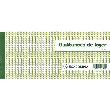 Exacompta 42e Quittances De Loyer 50 Feuillets Format Horizontal 10