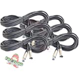 XLR Microphone Cables (6 Pack) by Fat Toad|20 ft Professional Pro Audio Mic Cord Patch with Lo-Z Connector|20 AWG…