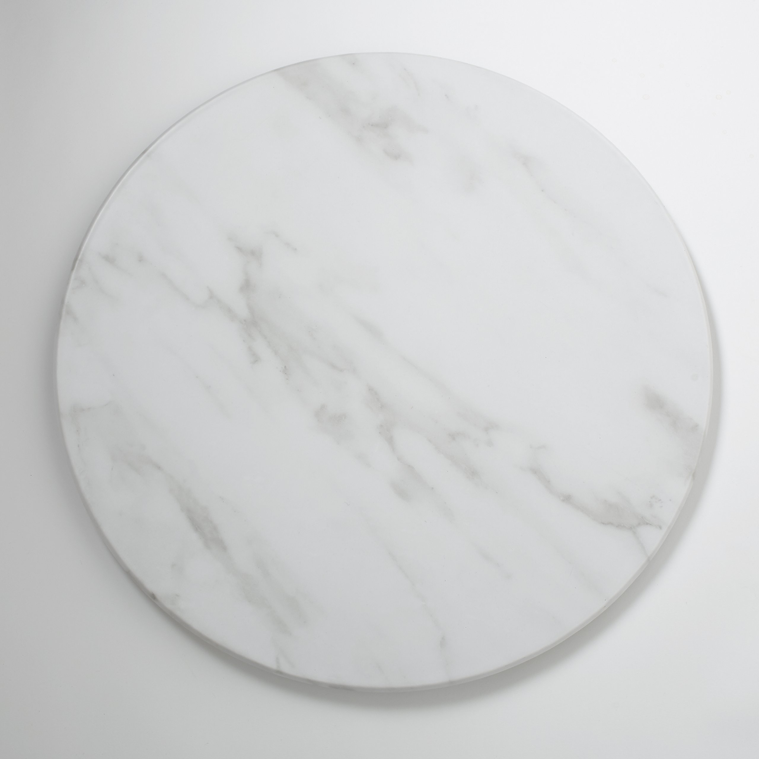 American Metalcraft MW21 Marble Melamine Serving Board, Round, White, 21 1/2-Inch Diameter