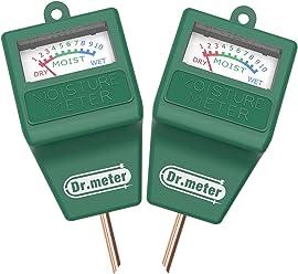 [2pack Soil Moisture Meter ] Dr.meter Hygrometer Moisture Sensor Meter for Garden,