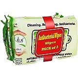 Ziva Antibacterial Multipurpose Wipes - 80 Wipes, Pack of 3 Pcs