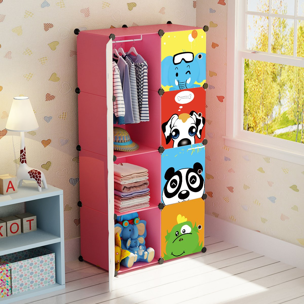 Details About Portable Closets For Kids Girl Clothes Rack Wardrobe Child  Dresser Organizer NEW