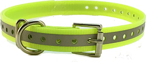 Sparky Pet Co High-Flex 3 4 Roller Buckle Reflective Replacement Collars Yellow
