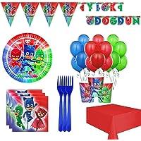 Pijamaskeliler 8 Kişilik, Pija Maskeliler Doğum Günü Parti Seti
