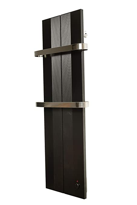 Finesa Badheizkörper-Handtuchwärmer-Elektrischer,Wärmeabgabe 400-750  W,Termostat,Handtuchtrockner,Handtuchhalter (1000x404, Schwarz)***** 5  Jahre ...