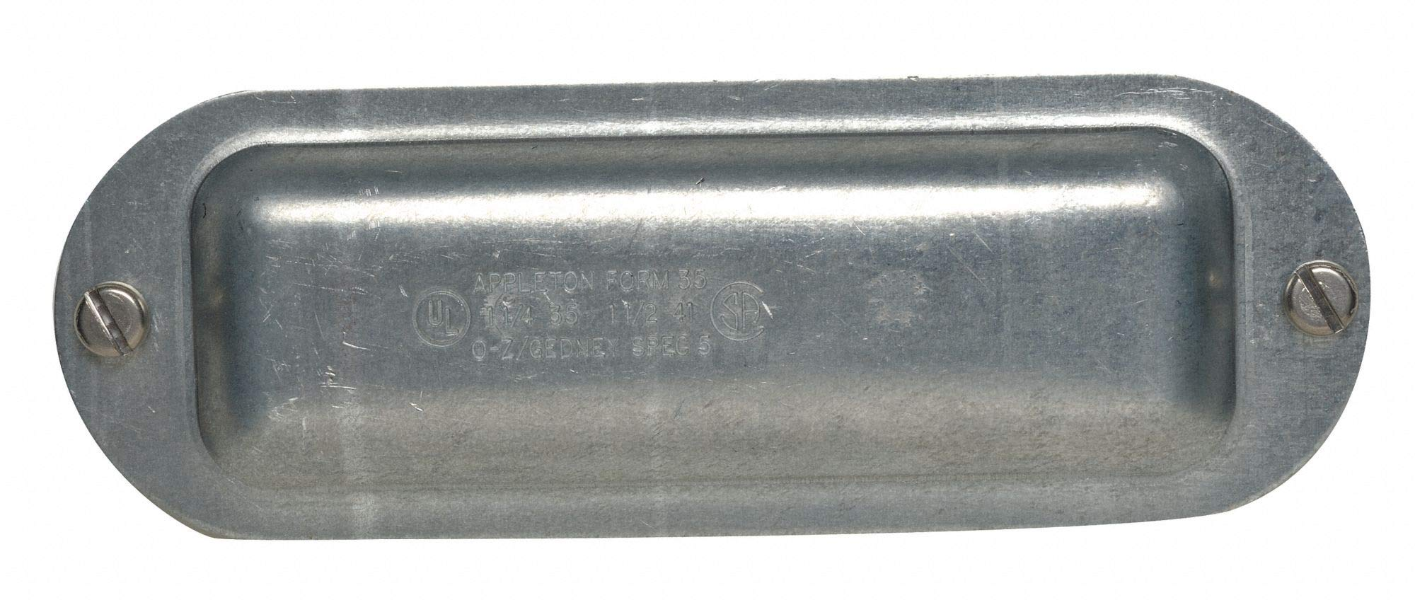 Conduit Body Cover, 1-1/4'' Hub Size, For Use With Appleton Form 35 Unilet Conduit Outlet Bodies