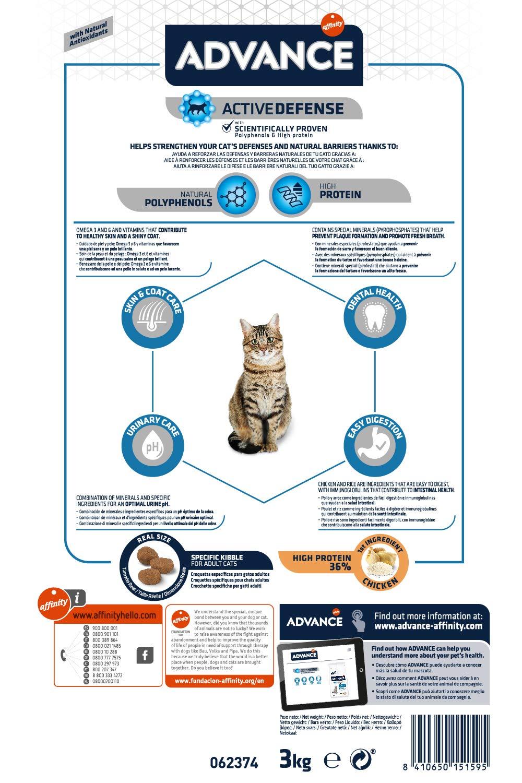 Advance Pienso para Gato Adulto con Pollo y Arroz - 3000 gr: Amazon.es: Productos para mascotas