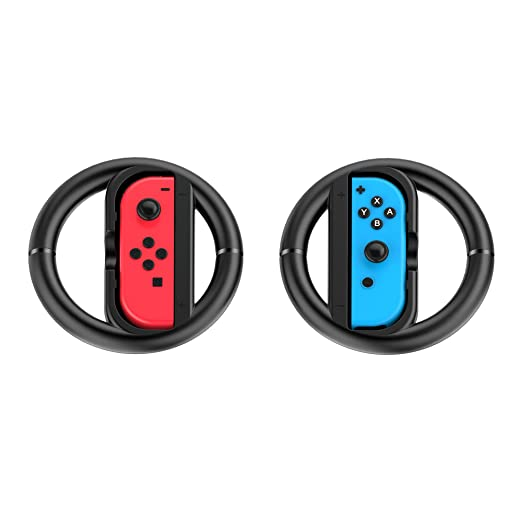 Joy-Con Wheel for Nintendo Switch Controller-Black (Set of 2)