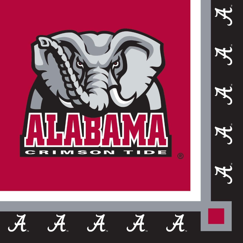 クラブパックの240 NCAA Univ of Alabamaプレミアム2重使い捨てパーティー飲料ナプキン5