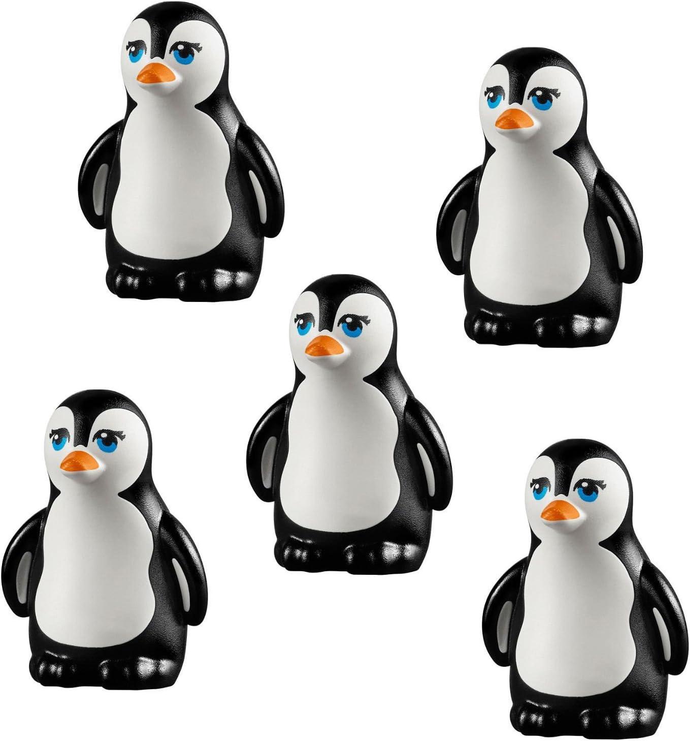 LEGO LOT 5 pcs NEW PENGUIN South Pole Arctic Winter Bird Animal Figure Minifig