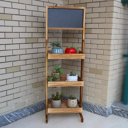Amazon.com : Yxsd Small Chalkboard Shelf, Folding Bamboo ...