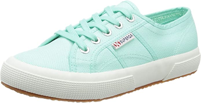 Superga 2750 Cotu Classic Sneakers Low-Top Unisex Damen Herren Grün (Pastel Green)